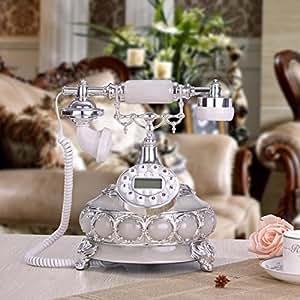Teléfono de sala de estar casera decoración teléfono teléfono europeo clásico blanco retro