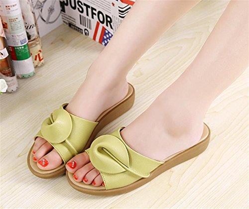 RuiSommer flache Sandalen Hausschuhe flache Sandalen Damen Mode Schuhe 2