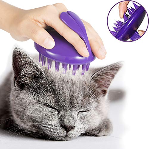 CELEMOON [Soft Silicone Pins] Ultra-Soft Silicone Washable Cat Grooming Shedding
