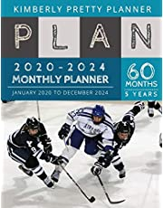 5 year monthly planner 2020-2024: Monthly Schedule Organizer - Agenda Planner For The Next Five Years, 60 Months Calendar, Appointment Notebook Large Size | hockey agility design