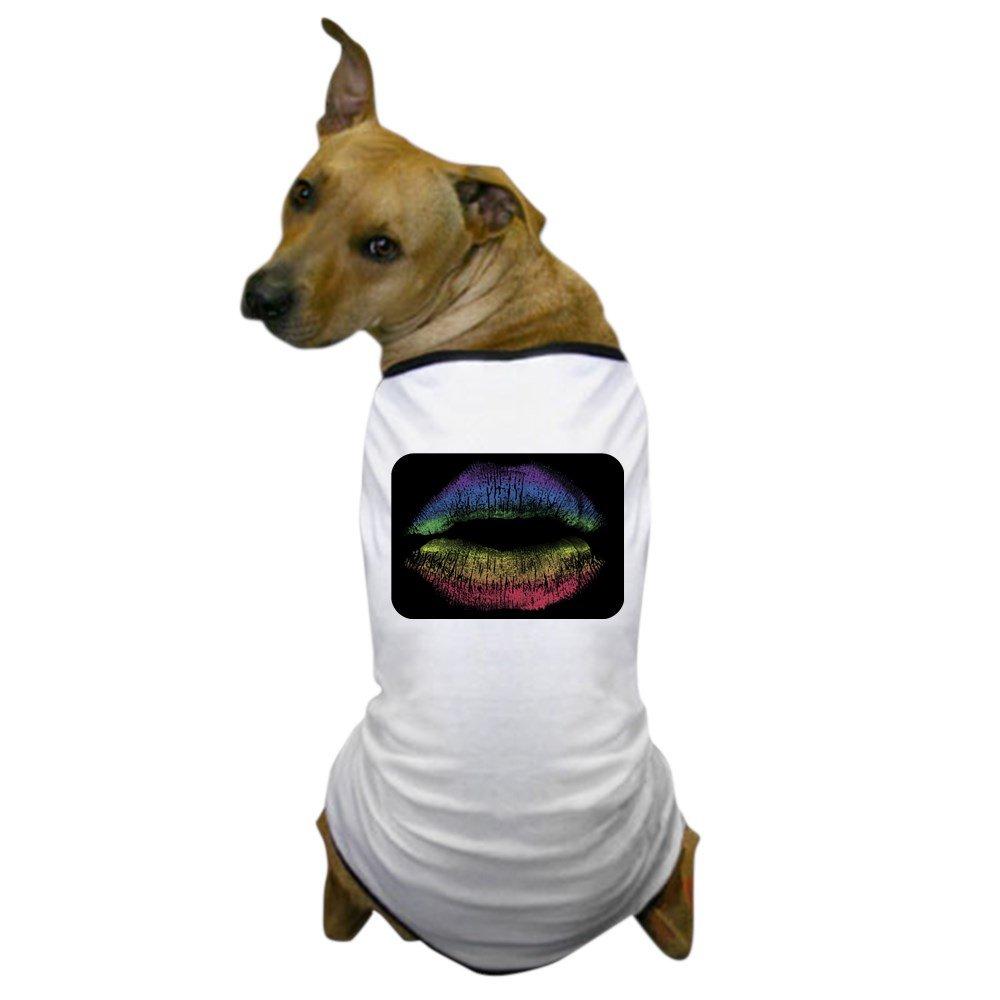 2X Royal Lion Dog T-Shirt Gay Pride Flag Rainbow Lips