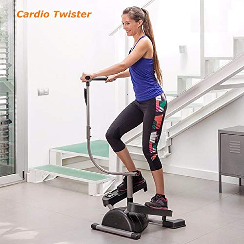 TECHTONGDA Cardio Twister Speed-Adjustable Stair Stepper Machine Weight Loss Gym