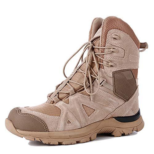 Yc Desert Shoes Uomo Lace Stivali Boots Military Tops Toe Sandcolor Police Crash Treking Tattici Combattimento Hiking Da High Up Per Esterno Patrol 7R7tdnrwqv