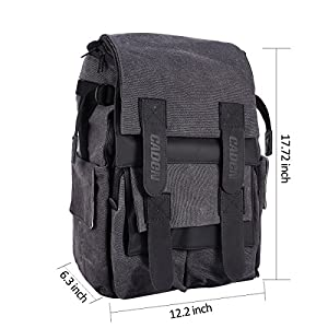 pangshi DSLR SLR Waterproof Camera Laptop Backpack Rucksack Shoulder Bag Multi Pocket Gadget Camera Bag Photography Travel Bags for Canon Nikon Sony SLR Camera
