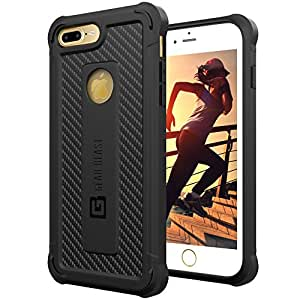 iPhone 7 Plus Case, Gear Beast GearShield Ultra Protective iPhone 7 Plus Armor Case, Meets Military Drop Test Standards [Shockproof], Slim Lightweight Design, Heavy Duty Protection for iPhone 7 Plus