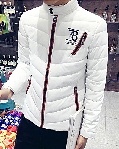 coat Thick warm Down Keep Jacket Sweater Parka Men's Stand White collar wFpqfpHx
