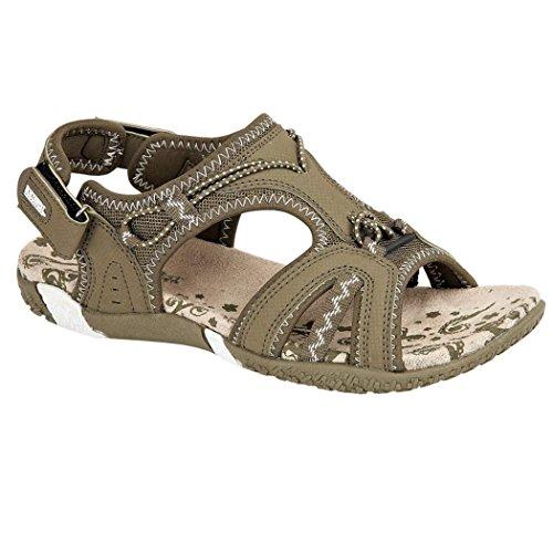 3 Tamaños 6 7 Northwest deportivas Brown Caqui 5 4 Señoras Caminar Velcro Adventure Sandalias 8 8Rawq0w