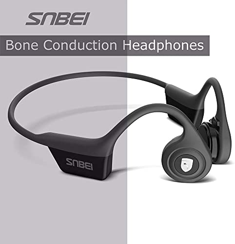 SNBEI Wireless Bone Conduction Headphones Leisure Cycling Sports Bluetooth headsets Gray