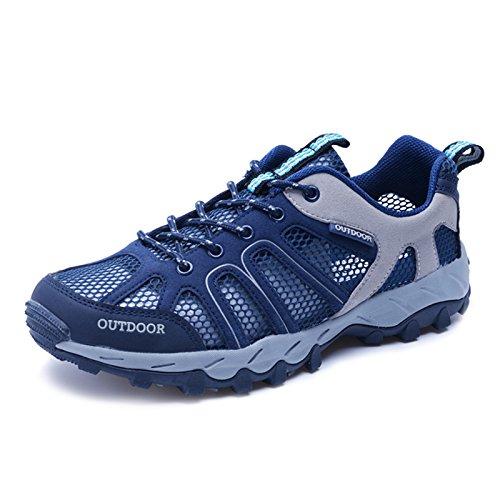 CraneLin Neue Größe Version Männer und Frauen Wasser Schuhe Outdoor Wanderschuhe Mesh Trekking Schuhe Blau 6110