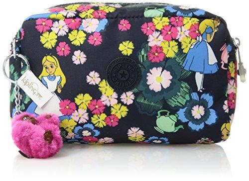 Kipling Disney Alice in Wonderland Collection Gleam Printed Cosmetic Bag, tea rose