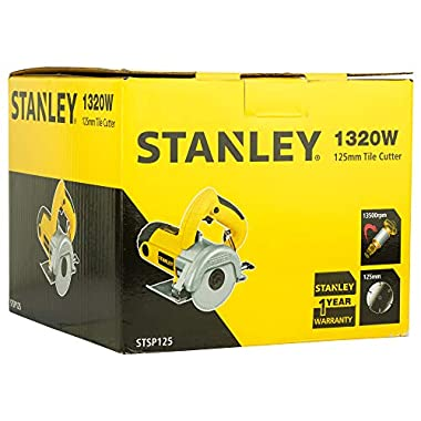 STANLEY STSP125 1320 Watt 5''/125mm Tile Cutter Machine (Yellow and Black) 13