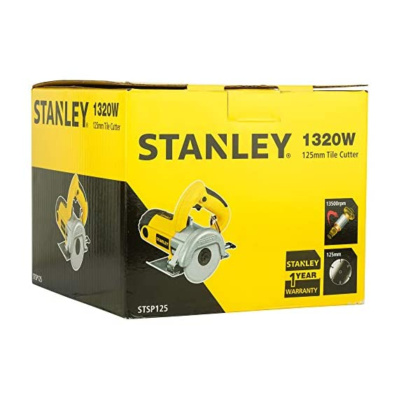 STANLEY STSP125 1320 Watt 5''/125mm Tile Cutter Machine (Yellow and Black) 6