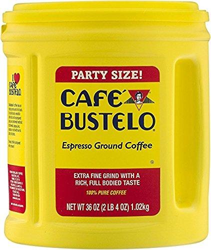 Cafe Bustelo Espresso Ground Coffee Party Size ,36oz