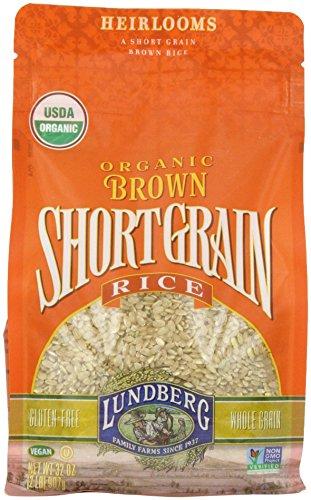 Whole Grain Rice Cakes (Lundberg Family Farms Organic Short Grain Rice, Brown, 32 Ounce)