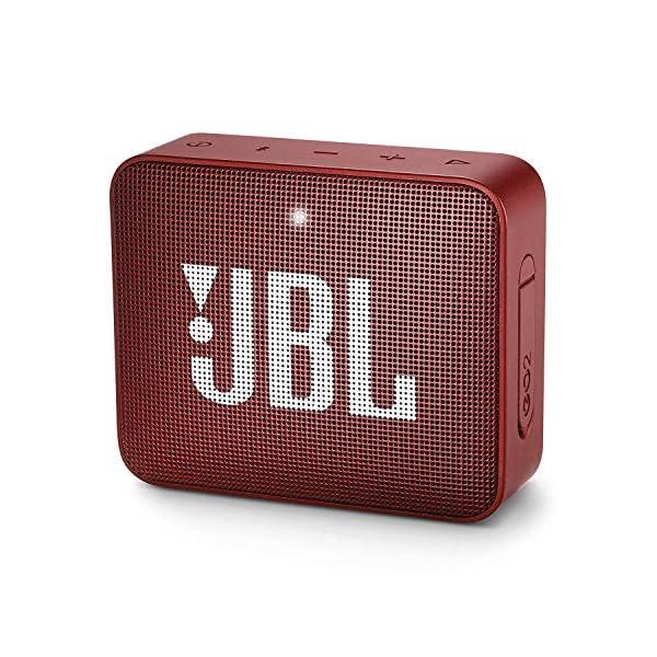 JBL Go 2 - Mini enceinte Bluetooth Portable - Étanche pour Piscine & Plage Ipx7 - Autonomie 5hrs - Qualité Audio JBL - Rouge 1