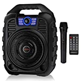 EARISE T26 Portable PA System Bluetooth Speaker with Wireless Microphone, Rechargeable Karaoke Machine with FM Radio, Audio Recording, Remote Control, Supports TF Card/USB, Perfect for Party