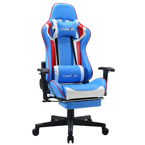 Awesome High Back Pu Leather Swivel Gaming Chair With Adjustable Armrest Lumbar Support Headrest Footrest Video Game Chair Racing Office Chair Massage Chair Alphanode Cool Chair Designs And Ideas Alphanodeonline