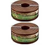 Master Mark Plastics 95340 Terrace Board Landscape Edging Coil, 5-inch x 40-Foot, Brown - 2