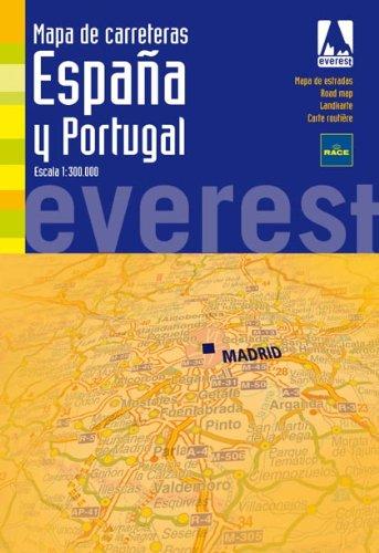 Mapa de carreteras de España y Portugal. 1:300.000 Mapas de ...