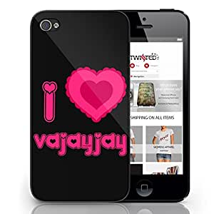 Black Cover For iPhone 6 I Love Vajayjay Funny Cool Quirky Phone Case
