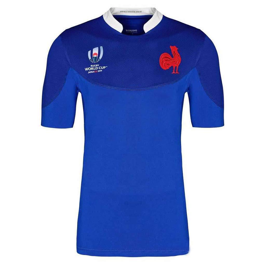 Coupe du Monde France Maillot de Rugby Supporters de Rugby Hommes Maillot Alternatif /à Manches Courtes V/êtements de Football T-Shirt dEt/é Supporters Surv/êtements