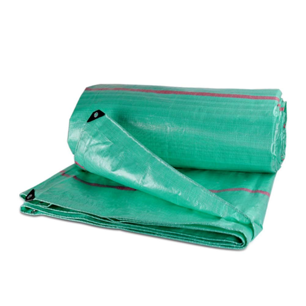 DALL 防水シートの厚さ0.46 Mm屋外防雨布防水日焼け止め多目的220 G/M 2引裂抵抗 (Color : 緑, Size : 10×12m) 緑 10×12m