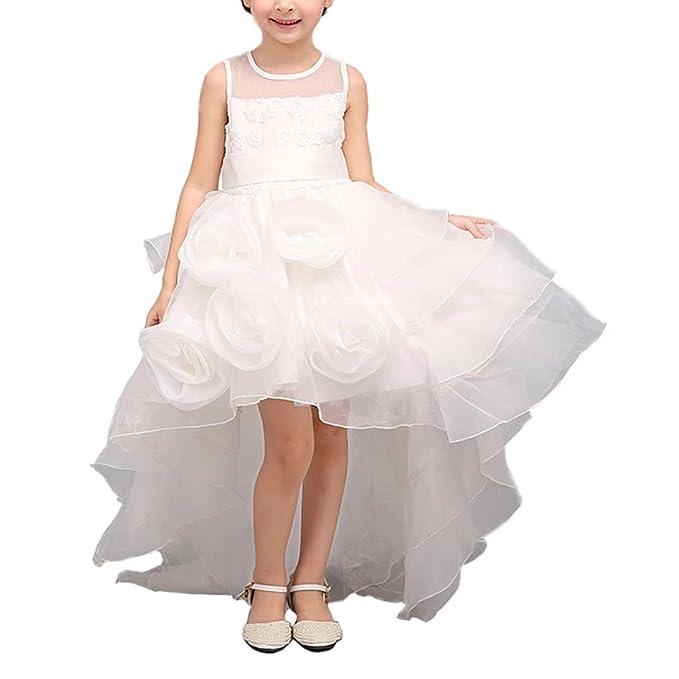 Amazon.com: Ángel vestido tienda Hi bajo Color Blanco ...