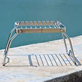 Haoun Camping Stove Stand Stainless Steel, Foldable Stove Rack for Traveling Camping Portable