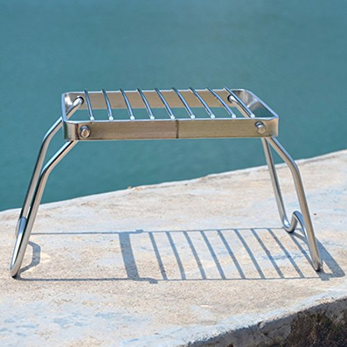 Haoun Camping Stove Stand Stainless Steel, Foldable Stove Rack for Traveling Camping Portable by Haoun