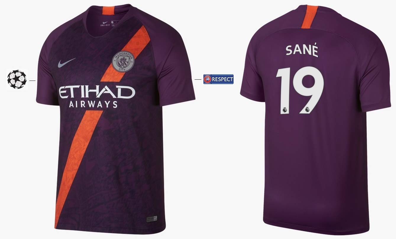 Manchester City F.C. Trikot Kinder 2018-2019 Third UCL - Sane 19