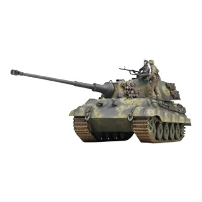 Academy German King Tiger Last Production Military Land Vehicle Model Building Kit: Toys & Games