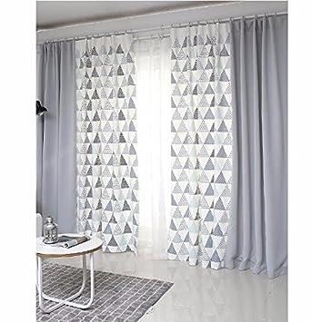 PEIWENIN Schlafzimmer Vorhänge modernen minimalistischen fertig ...