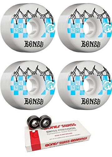 ぶどうどこにもオーブン54 mm Bones Wheels SPFタイルスケートボードWheels with Bones Bearings – 8 mm Bones Swiss Skateboard Bearings – 2アイテムのバンドル