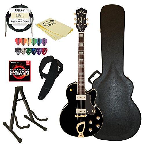 Guild M-75 Aristocrat Hollow Body Electric Guitar with Case & ChromaCast accessories, Black -  GO-DPS, M-75 Aristocrat BLK-KIT-2