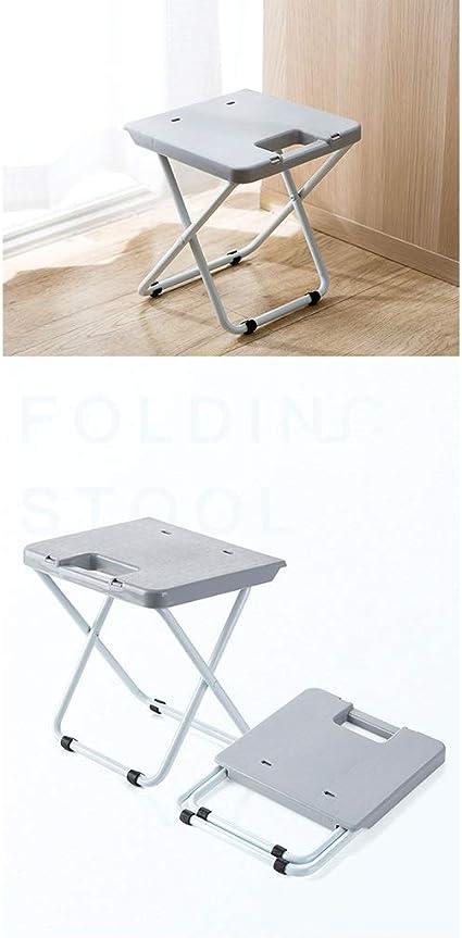 Coj/ín con memoria de forma incluida Camping altura ajustable Interior y exterior cocina y jard/ín Taburete plegable port/átil actividades al aire libre N // A COMKTM