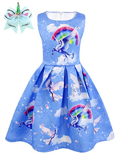Dresess For Girls - HenzWorld Dresess for Girls Unicorn Printed