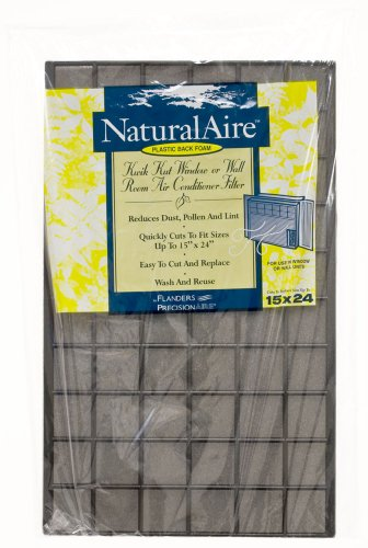 Kwik Kut Plastic Back Foam Air Filter, MERV 4, 15 x 24 x 1/4-Inch, 24-Pack -