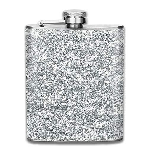 (Steel Stainless Flask,Bling Wallpapers Pocket Funnel,Screwed Top Liquor Alcohol Whiskey Spirits Hip for Men,7 OZ)