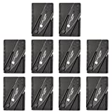 X-Plore Gear Folding Credit Card Knife Tool 10 Pack   Pocket Friendly, Sharp Knife with Safety Locks   for Slicing, Cutting, Emergencies, Camping, Trips Outdoor Sports, Travel & More