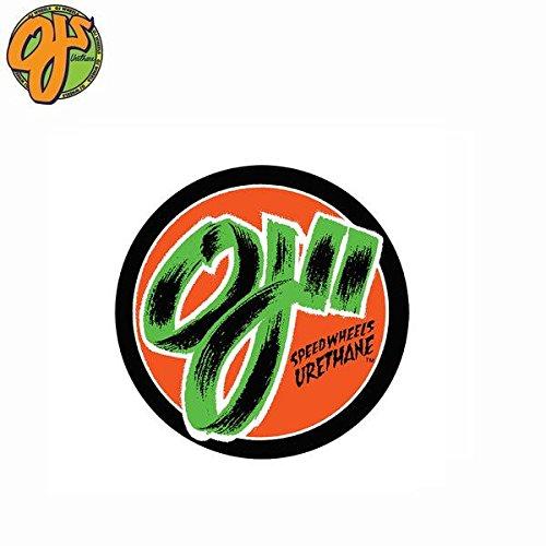 腐敗死にかけている悲劇的なOJ WHEELS OJ 2 SPEED WHEELS DECAL オージェーウィール ブランド ロゴ 円形 ステッカー