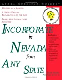 Incorporate in Nevada from Any State (Legal Survival Guides)