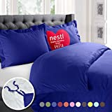 Nestl 2pc Bedding Duvet Cover & Pillow Sham Set, Twin, Royal Blue Deal (Small Image)