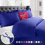 Nestl 2pc Bedding Duvet Cover & Pillow Sham Set, Twin, Royal Blue Deal
