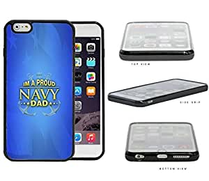Im Proud Navy Dad with Gold Letters and Blue Background USA Flag Case Cover For SamSung Galaxy S4 Mini SCREEN Hard Silicone PC Cell Phone Case