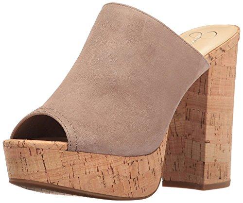 Jessica Simpson Women's Giavanna Heeled Sandal, Warm Taupe, 8 Medium US