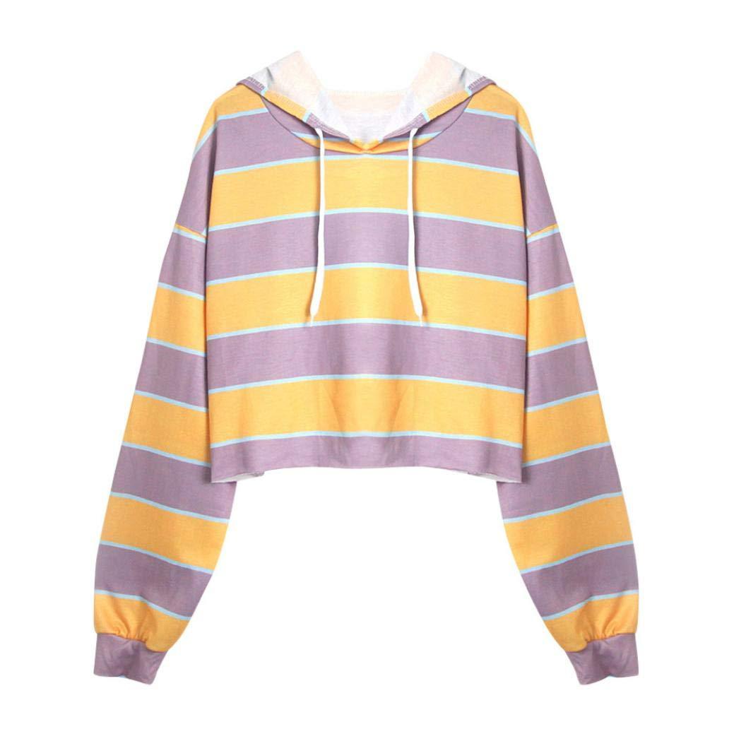 Kapuzenpullover Damen Julywe Damen Long Sleeve Striped Patchwork Sweatshirt Lässige Kapuzenhemd Bluse Julywe Sweatshirt