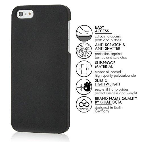 "Smartphone de Coque de protection Slim ""Anti empreintes digitales"" et ""Anti Rayures"" Coque en noir mat–"