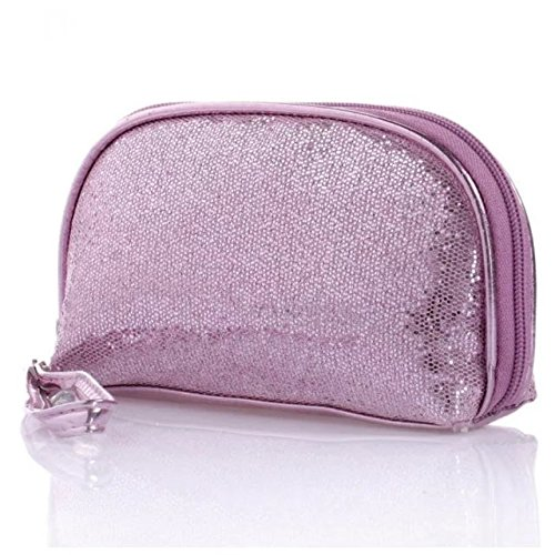 EYX Formula Fashion Zipper Shining Bling Sequins Handbag Cosmetics Bag Makeup Bag,Retro Luxurious Sparkling Purse Hand Bag Evening Party Bag for Lady Women