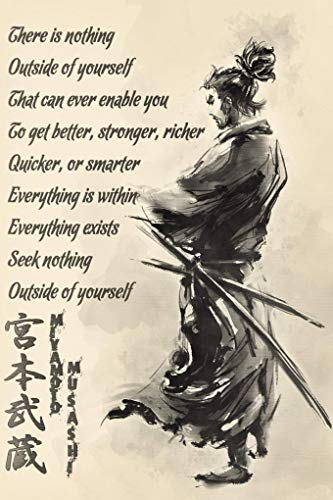lagifi Samurai Poster - Miyamoto Musashi 30X40Cm No Frame
