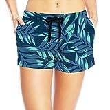 Seaside Beach Short for Women - Fine Plants - Navy